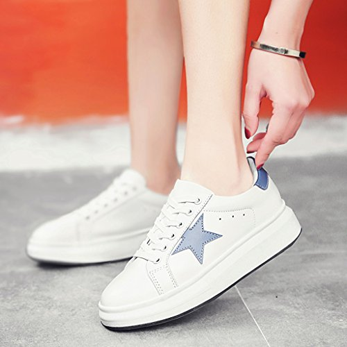 White Shoes Azul Bottom Blanco mujer Mujer Small HWF Estudiante White 39 Tamaño Plate Gruesa Casual Spring black Color para Zapatos Zapatos Mujeres Sports Plataforma gxqq74v