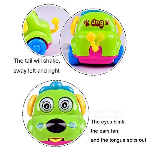 USHOT Hobbies Toys, Clockwork Funny Toy Cartoon Puppy Tongue Clockwork Car Educational Toys