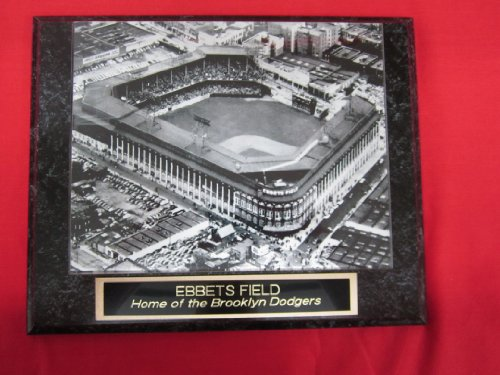 - Ebbets Field Brooklyn Dodgers Collector Plaque w/8x10 VINTAGE Photo