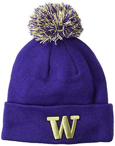 detailed pictures 50217 ad1ca Washington Huskies Knit Hats. Zephyr NCAA Washington Huskies Pom Knit Beanie  ...
