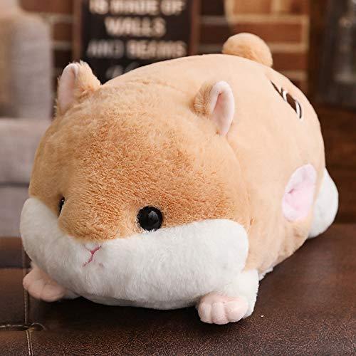 (Solazi Hamster Plush Toy - Cartoon Hamster Plush Toy Soft Hamster Long Bolster Stuffed Animals Home Decor Pillow Kids Birthday Gifts - 28 Inch Light Brown - Look Mini Rainbow Small Big)
