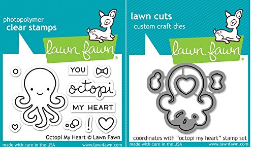 - Lawn Fawn Octopi My Heart Clear Stamps (LF1295) and Dies (LF1296) Set