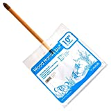 Taam ATATW1012W Wood Handle Net for Aquarium, 10-Inch by 7-Inch by 12-Inch, White