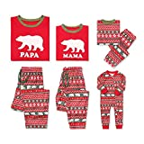 Aiybao Christmas Holiday Family Matching Polar Bear Pajama PJ Sets (X-Large, Dad)