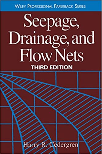 seepage drainage and flow nets 3rd edition