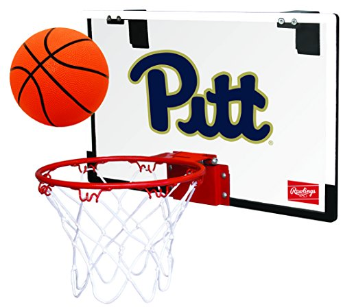 Rawlings NCAA Pittsburgh Panthers 00673097111NCAA Game On Polycarbonate Hoop Set (All Team Options), Yellow, Youth