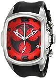 Invicta Men's 6098 Lupah Collection Revolution Chronograph Black Rubber Watch