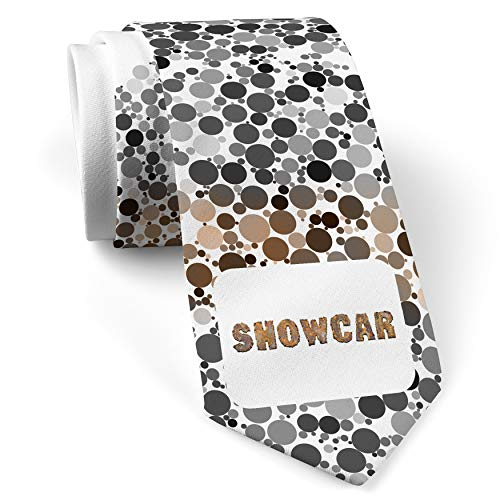 Neck Tie with Showcar Rusty Vintage Metal Welding White with Color - Showcar Accessories