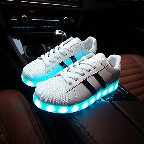 Amantes Casual Con Multi Shoes Los Sneakers amp;G Light Colores Zapatos Sty Luminous Para Shoes De Tamaño Led Carga Mujeres 168 NGRDX De Man Los De Mujeres White Usb 46 34 HgqvTYvw