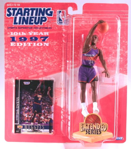 ANTONIO MCDYESS / PHOENIX SUNS * 1997 EXTENDED SERIES * NBA Kenner Starting Lineup & Exclusive TOPPS Collector Trading Card