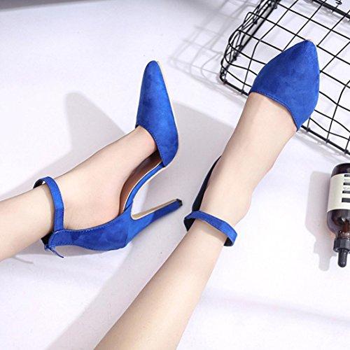 Feiner Blau Tag Stil Schwarz Wildleder Sandalen Army Heel Blau Keine Pumps High Dekoration grün Einfacher Stil Pendeln Grundlegender Schuhe Damen Jeden Rosa Hffan Xwq1a7Yxn