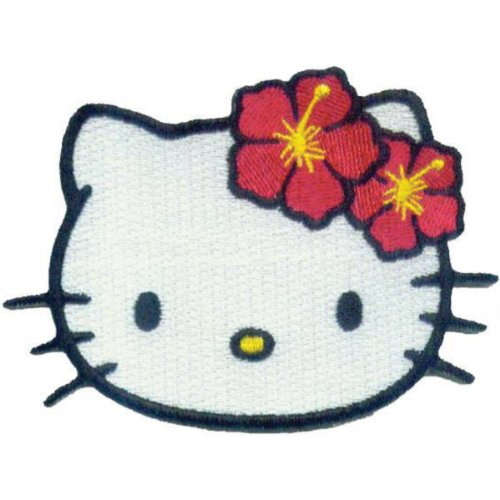 Application Hello Kitty Head Shot Patch - Hello Kitty Applique