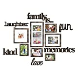 photo collage frames large - Jerry & Maggie - Photo Frame | Plaque College Frame - Wall Decoration Combination - Bronze PVC Picture Frame Selfie Gallery Collage With Full Size Hanging Template & Wall Mounting Design