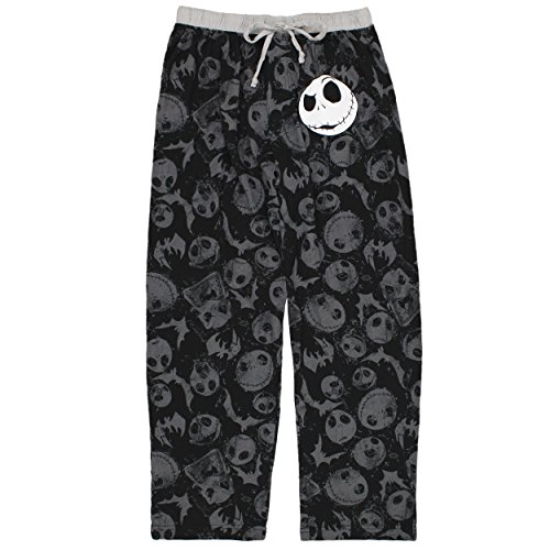 Nightmare Before Christmas Men's Sleep Pants, (Nightmare Before Christmas Jack Skeleton)