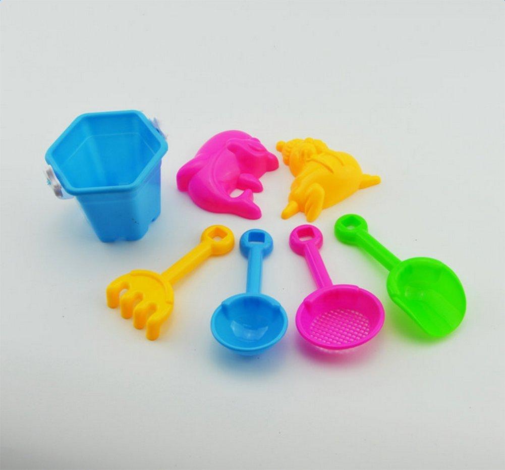 Wicemoon 7Pcs Jouet Sable Plage Jeux Plage Jardin Bac Plastique Cadeau Color/é pour B/éb/é Enfant Seau Jouets Ensemble