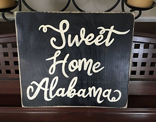 Sweet Home Alabama Wood Signs with Quotes Funny for Home Decor Wall Art Haning Sign Plaque for Bedrooms Gifts Sign 30x30cm ()