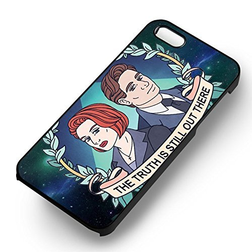 The X Files Art Cartoon pour Coque Iphone 6 et Coque Iphone 6s Case (Noir Boîtier en plastique dur) V5U1WO