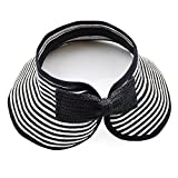Aisa Children Beach Hat Sun Visor Foldable Roll up Wide Brim Straw Hat Kids Cap (Color Black)
