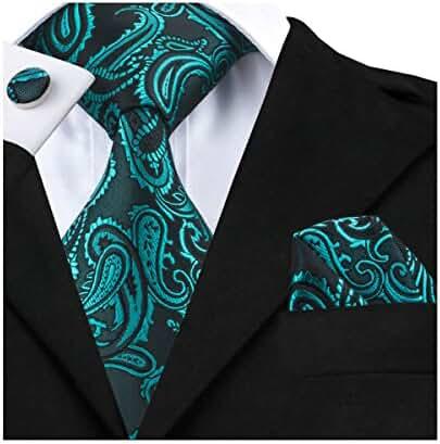 Hi-Tie New Fashion Teal Necktie Paisley Style