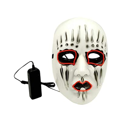 PROKTH Mascara led Hombre Disfraz la Purga Mujer Mascaras de Halloween Mascaras de la Purga Terror