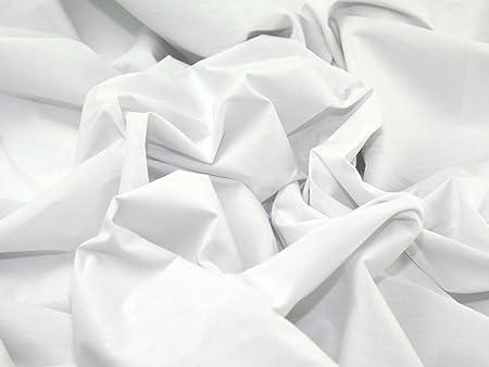 OD - Tela de sábana fabricada en algodón y poliéster (239 cm, precio por metro), color blanco: Amazon.es: Hogar