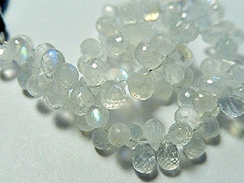 Rainbow Moonstone Gemstone. Semi Precious Gemstone. Faceted Moonstone Teardrop Briolette. 6mm 8pcs (Briolette Gemstone Teardrop)