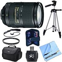 AF-S DX NIKKOR 18-300mm f/3.5-5.6G ED VR Zoom Lens Bundle includes NIKKOR 18-300mm f/3.5-5.6G Zoom Lens, gadget bag, micro fiber cloth, memory card wallet, tripod, lens cap keeper, & UV Filter
