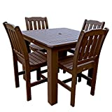 Highwood 5-Piece Lehigh Square Counter Height Dining Set, 42 by 42-Inch, Weathered Acorn Review