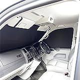UK Custom Covers sb160Luxus Parabrisas interior estor–negro