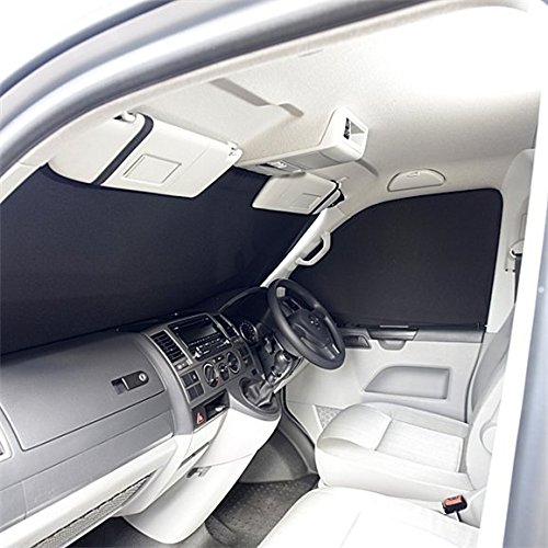Regno Unito su misura per parabrezza anteriore SB160 interni di lusso tenda –  nero UK Custom Covers