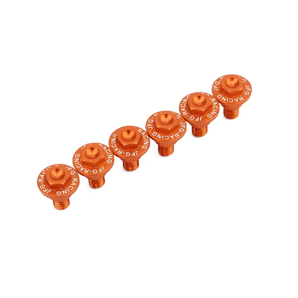 Orange AnXin 6PCS Front Fork Guard Bolt Screws For KTM EXC EXCF SX SXF XC XCF XCW XCFW 50-530 FREERIDE 250F 250R 350 Motorcycle