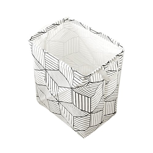 Baoblaze Prismatic Basket Laundry Hamper Washing Reuse Bin Clothes Storage Box,for Home,Office,Bedroom,Toys - White by Baoblaze