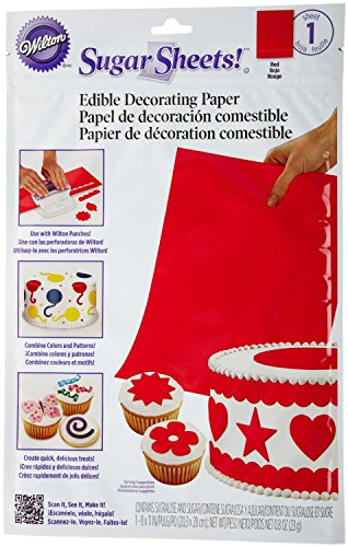 Wilton Sugar Sheet, Red