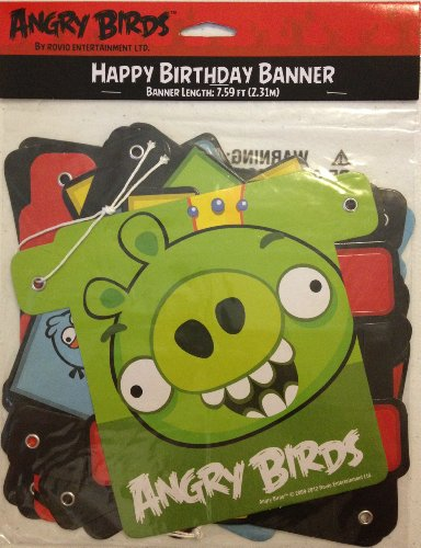 Angry Bird Party Supplies (Angry Birds Happy Birthday Banner)