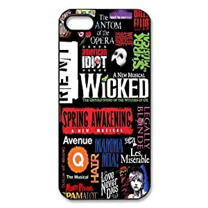 Broadway Phantom of the Opera wicked cat jigsaw Iphone 5 5S hard plastic case