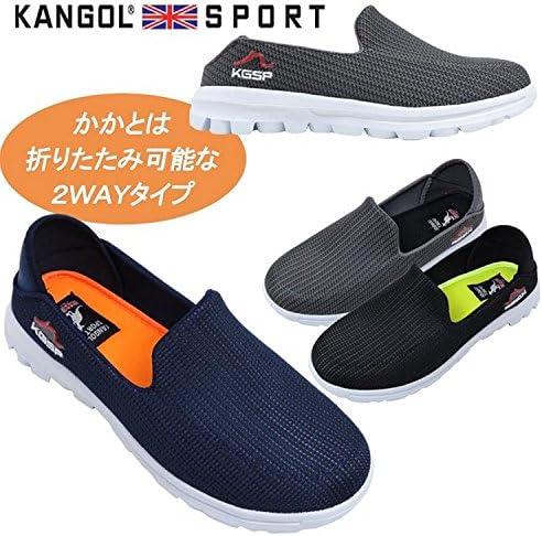 KANGOL SPORT 2WAY メンズ メッシュ カジュアル サボサンダル シューズ ブラック グレー ネイビー