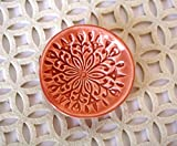 Peach Ring Holder - Handmade Jewelry Dish with Modern Scandinavian Floral Pattern offers