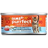 Iams Purrfect Delights Chunks Adult Wet Cat Food, Ocean Fish, 3 Oz. (Pack Of 24) (Discontinued By Manufacturer)