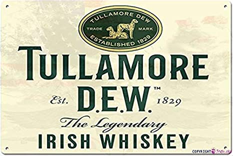 Tin Signs Beer Tullamore Dew Finest Old Irish Whiskey Retro Metal Sign Bar Club Restaurant Wall Decoration 12x8 Inches
