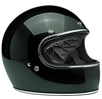 Amazon.es: Casco Gringo Biltwell Sierra Green Verde oscuro integral Helmet Vintage Retro Años 70 Custom Chopper Bobber Talla M verde oscuro
