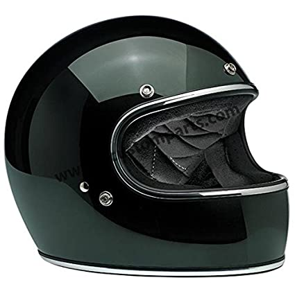 Helmet Gringo Biltwell Sierra Green Dark Green Vintage Retro Full Helmet Years 70/ Custom Chopper Bobber Size M dark green