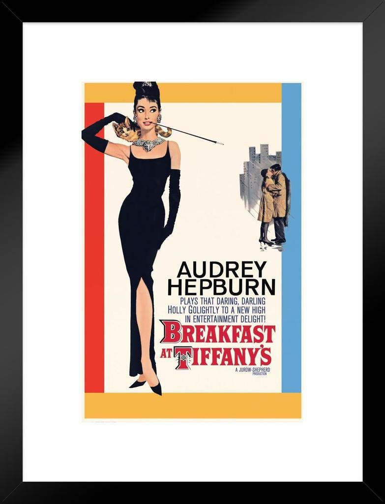Pyramid America Breakfast at Tiffanys Audrey Hepburn Movie Matted Framed Poster 20x26 inch - Superior quality 20x26 inch frame outer dimensions with 3 inch wide matting and 12x18 31x46 cm artwork.Manufactured in the USA, this framed poster is assembled by hand and carefully packed for shipping. All framed wall art with poster matting includes thick UVblocking acrylic and a rigid backing to protect your art prints from sunny windows and add elegance. The 1.5 inch wide composite wood moulding ensures your home wall decor has never looked this good Our curated Amazon Collection of both officially licensed and custom designed framed art prints with a white mat are perfect to use as gifts for Christmas, weddings, birthdays or housewarming celebrations. If you know someone with a bedroom, kitchen, office, or even a hotel room, they could probably use a decorative painting or print framed posters can also be rotated seasonally Its easy to find the framed home decor thats exactly right for you or someone special. - wall-art, living-room-decor, living-room - 51kzAUHVvhL -