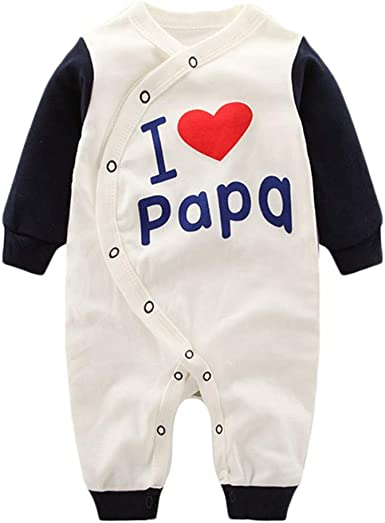 Baby Infant Toddler Romper Bodysuit Jumpsuit Papa Bear Long Sleeve Funny Climb Romper