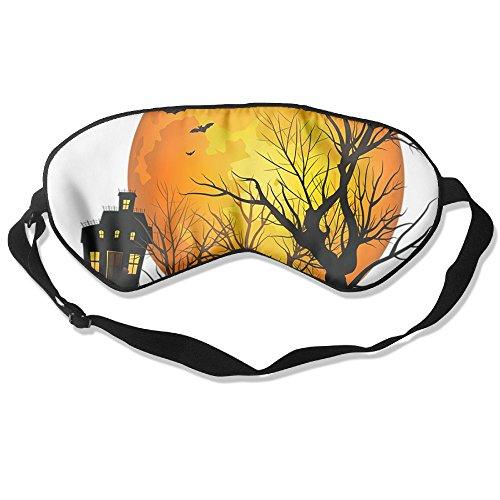 Sleep Mask Halloween Pumpkin Eye Cover Blackout Eye Masks,Soothing Puffy Eyes,Dark Circles,Stress,Breathable Blindfold For Women Men]()