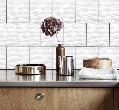 Küche Fliesen Aufkleber Wellen Vinyl Film für Badezimmer Wand ...