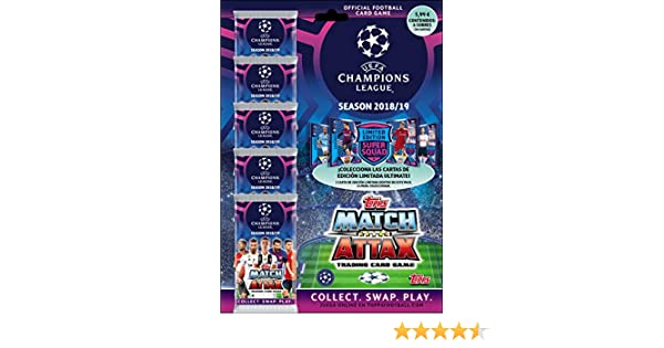 Topps- Match Attax-Trading Card Game UEFA Cartas Coleccionables ...