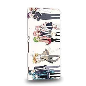 Case88 Premium Designs Vocaloid Miki Hatsune Miku Haku Luka Lin 0942 Carcasa/Funda dura para el Sony Xperia Z3+ / Z4 (No tableta !)