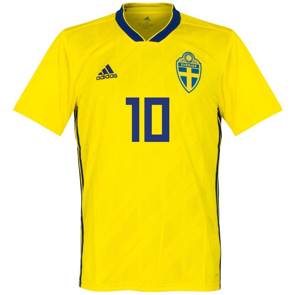 スウェーデンHome Ibrahimovic Jersey 2018 / 2019 (公式印刷) – XXL B0798Y9NP4