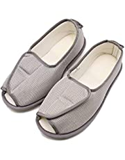 Women Slippers Adjustable Closures Nonslip House Extra Wide Sandal Shoes for Elderly Diabetic Swollen Feet