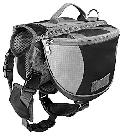 Dog Pack Hound Travel Camping Hiking Backpack Saddle Bag Rucksack for Medium & Large Dog Beijingquanminchongaixinxikejiyouxiangongsi